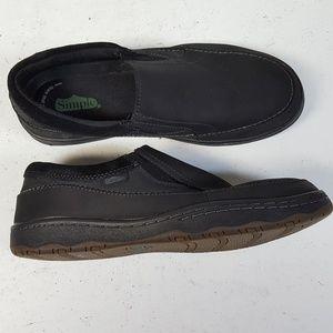Simple Post Black Nubuck Slip On Loafer